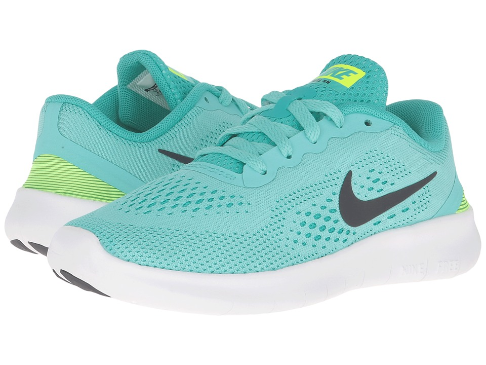 Nike Kids - Free RN (Little Kid) (Hyper Turquoise/Clear Jade/Volt/Black) Girls Shoes