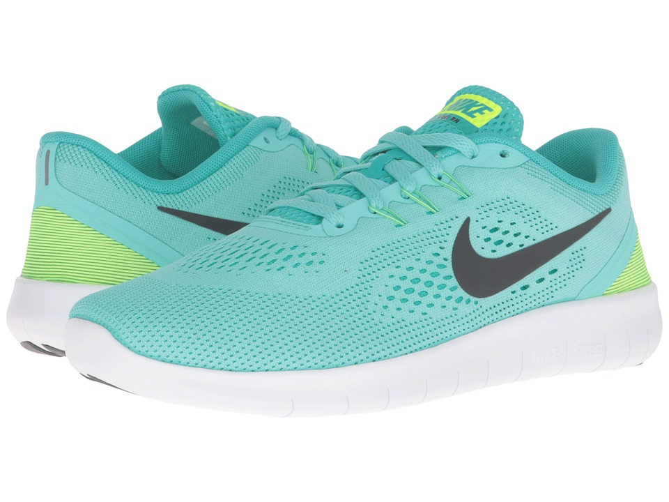 Nike Kids - Free RN (Big Kid) (Hyper Turquoise/Clear Jade/Volt/Black) Girls Shoes