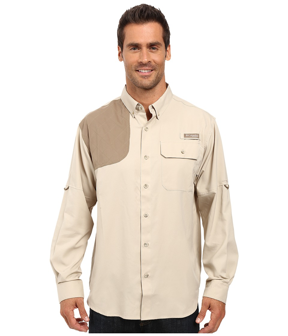 Columbia - Blood and Guts Shooting Shirt (Fossil/Flax) Men's Long Sleeve Button Up