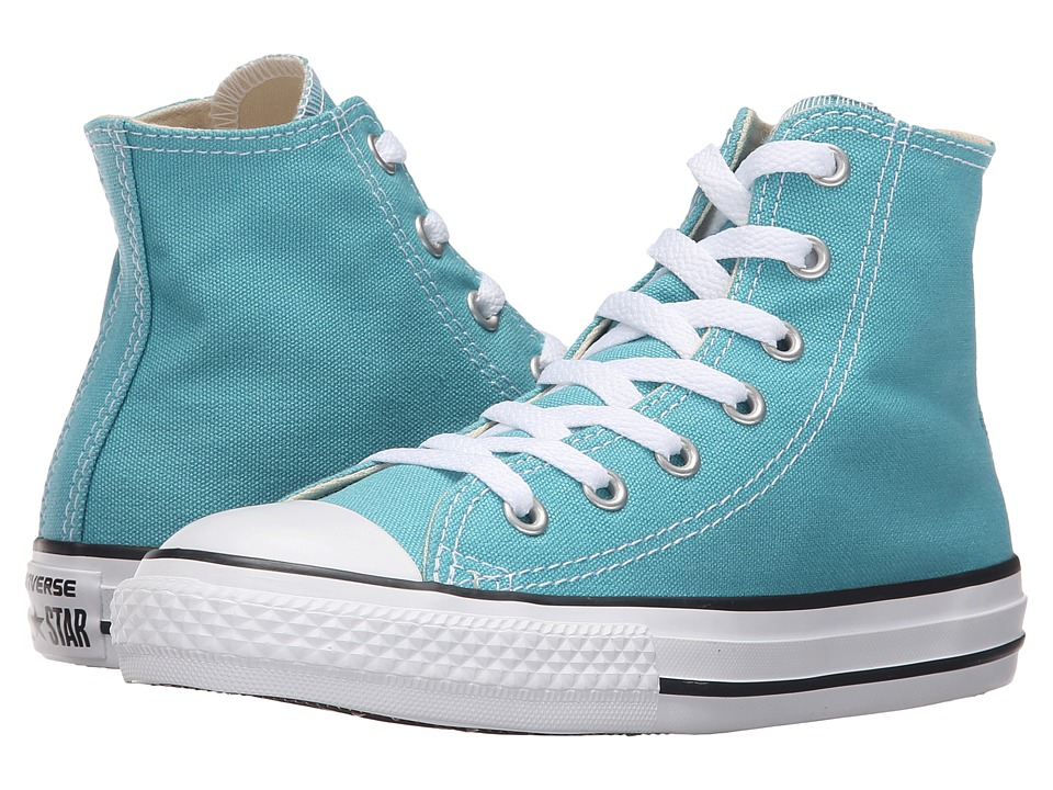 Converse Kids Chuck Taylor All Star Seasonal Hi (Little Kid) (Aegean Aqua) Kids Shoes