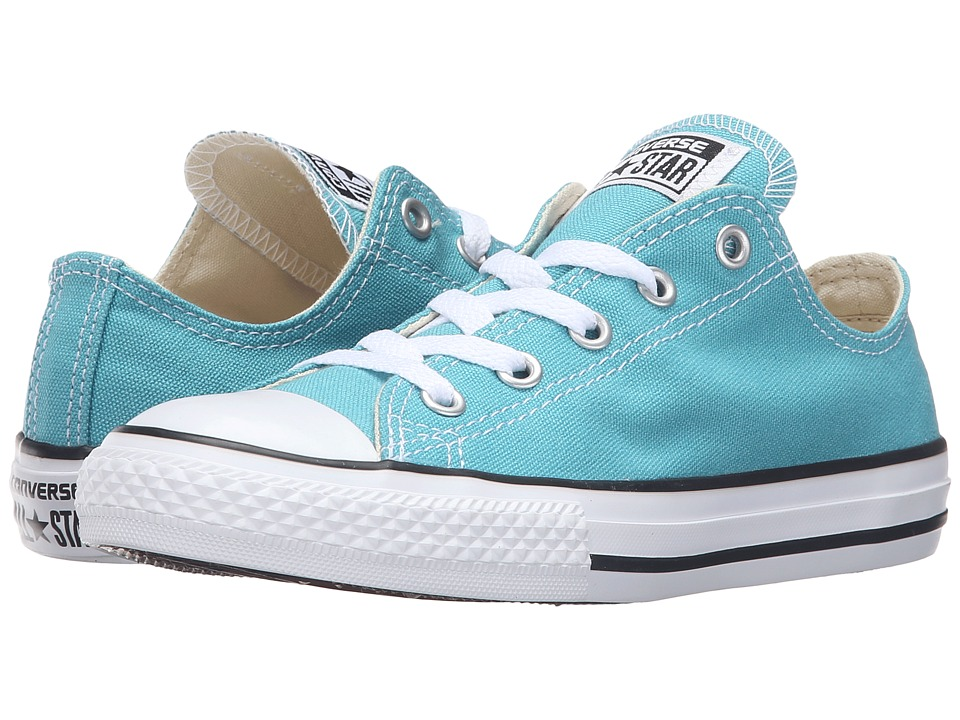 Converse Kids Chuck Taylor All Star Seasonal Ox (Little Kid) (Aegean Aqua) Kids Shoes