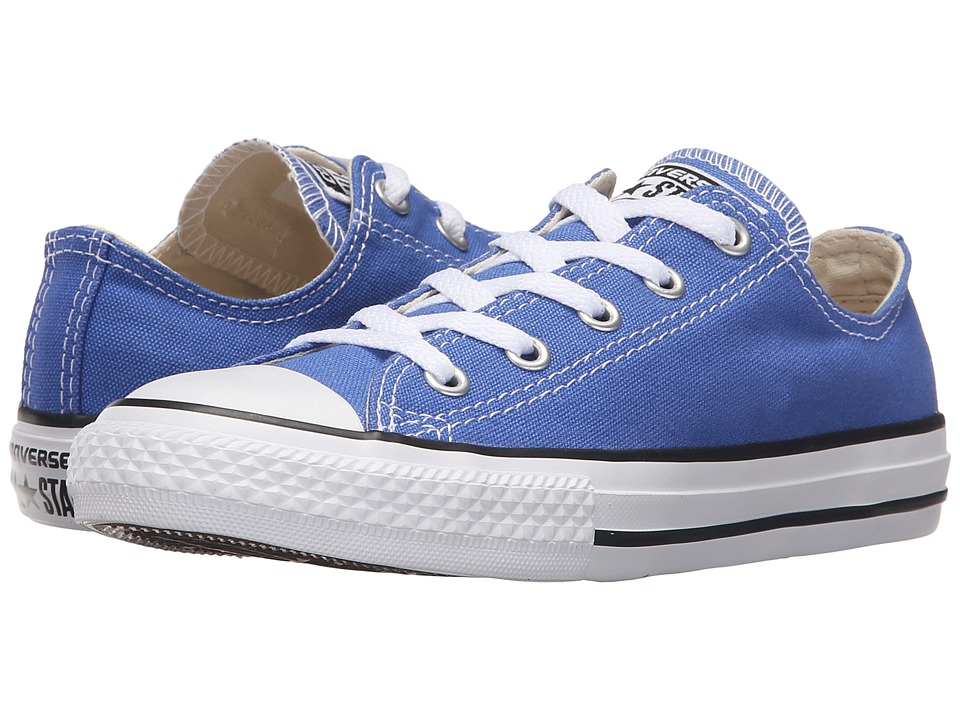 Converse Kids - Chuck Taylor All Star Seasonal Ox (Little Kid) (Oxygen Blue) Kids Shoes