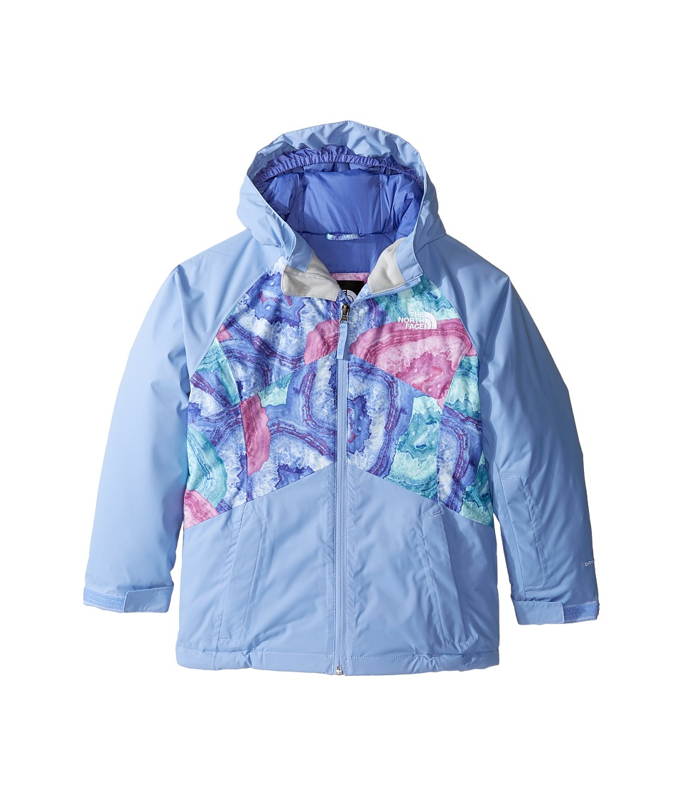 The North Face Kids - Brianna Insulated Jacket (Little Kids/Big Kids) (Grapemist Blue Crystal Print) Girl's Coat