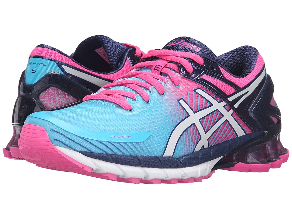 ASICS - GEL-Kinsei(r) 6 (Aquarium/White/Hot Pink) Women's Running Shoes