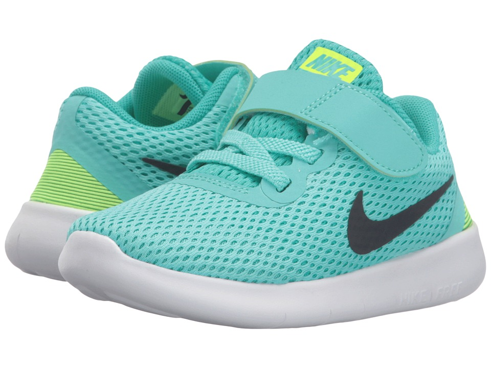 Nike Kids - Free RN (Infant/Toddler) (Hyper Turquoise/Clear Jade/Volt/Black) Girls Shoes