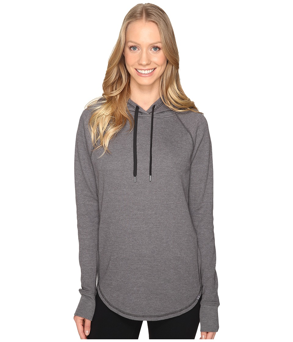 Under Armour - UA Waffle Hoodie (Carbon Heather/Black) Women's Sweatshirt