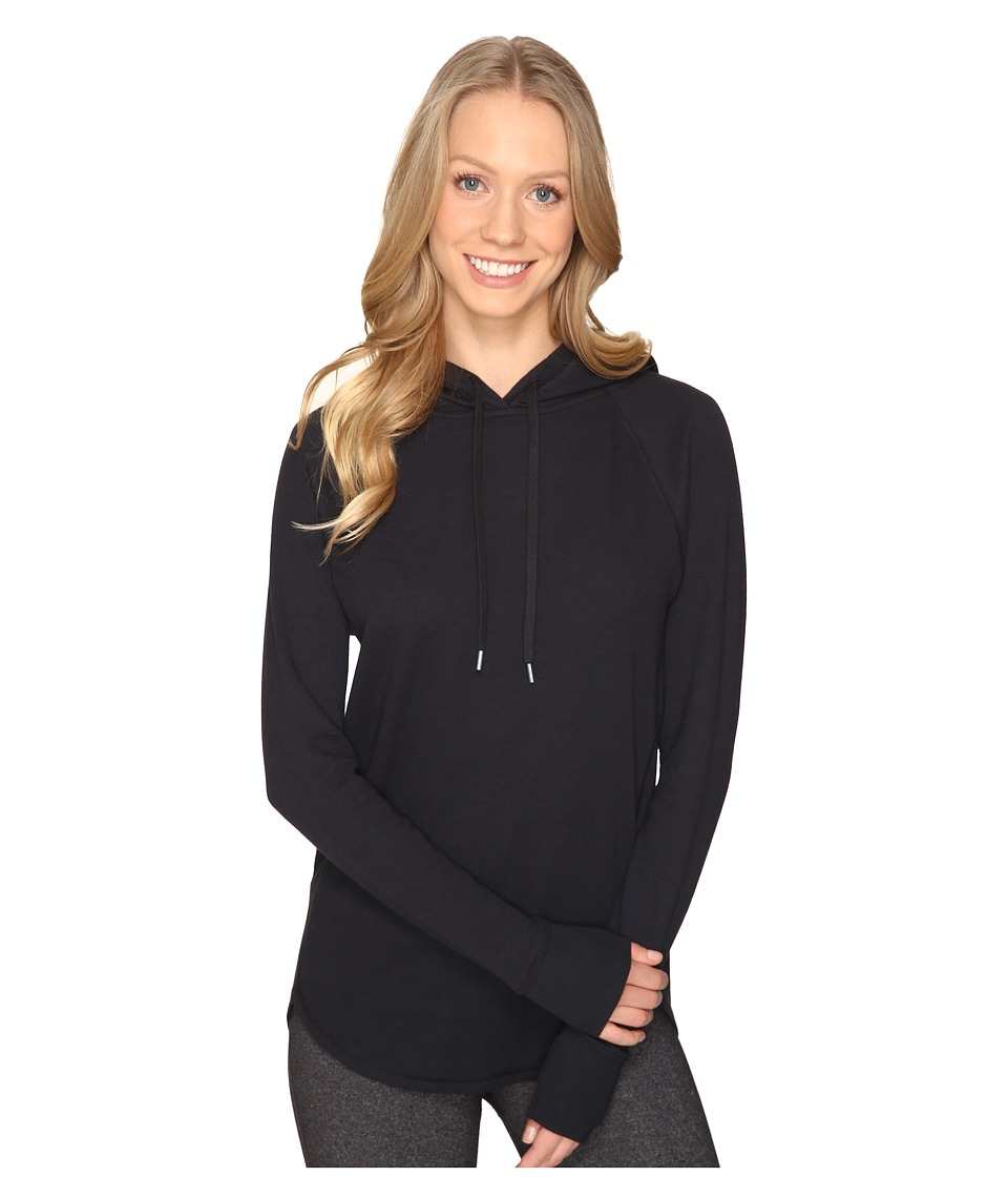 Under Armour - UA Waffle Hoodie (Black/Black) Women's Sweatshirt