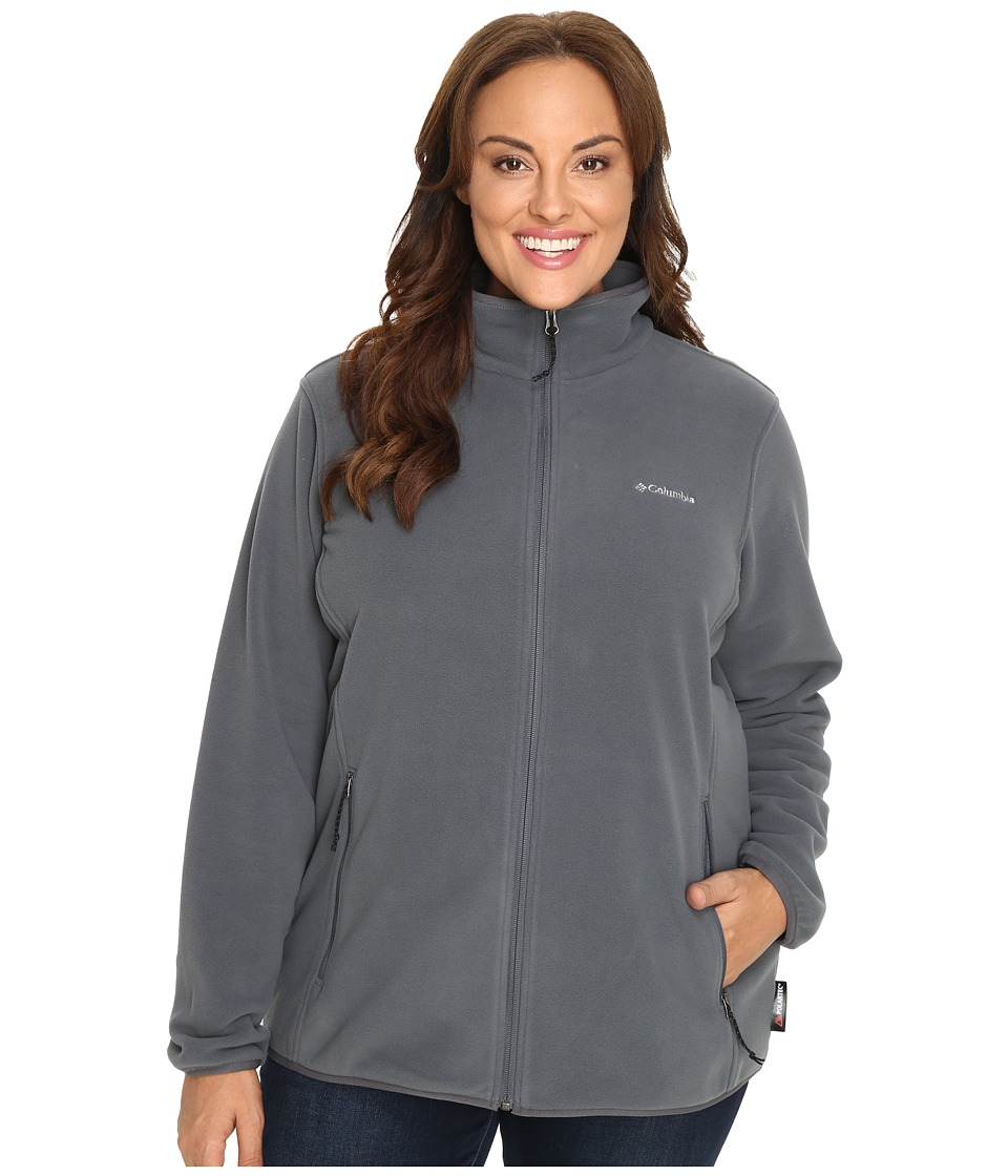 Columbia - Plus Size Fuller Ridge Fleece Jacket (Graphite) Women's Coat