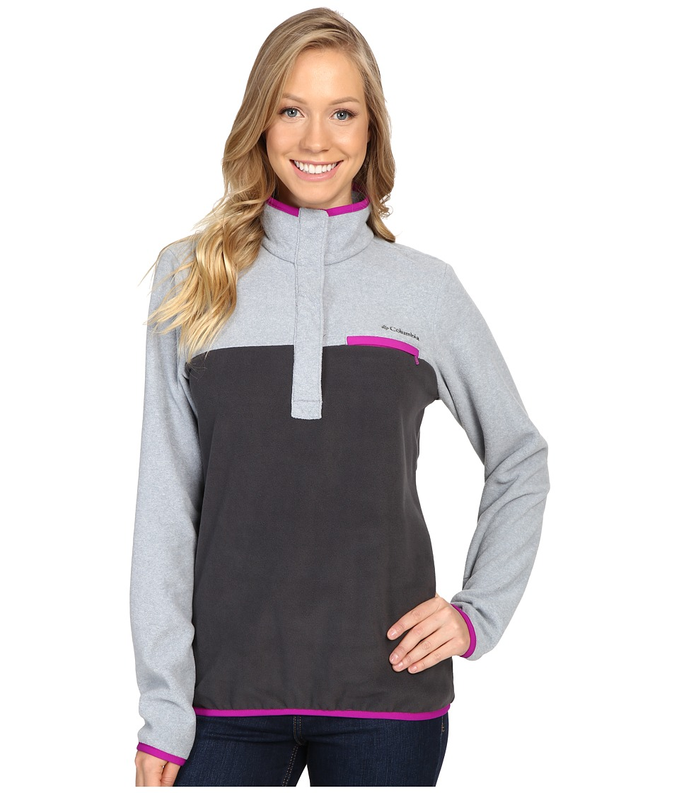 Columbia - Mountain Side Pullover (Shark/Tradewinds Grey Heather) Women's Long Sleeve Pullover