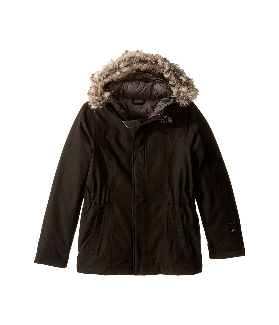 The North Face Kids Greenland Down Parka (Little Kids/Big Kids) (TNF Black/Graphite Grey) Girl