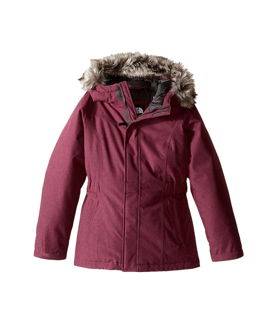 The North Face Kids - Greenland Down Parka (Little Kids/Big Kids) (Cabaret Pink Heather) Girl's Coat