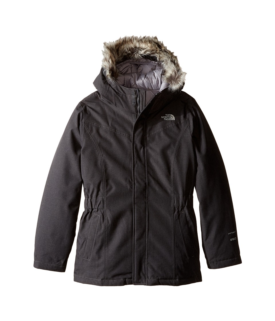 The North Face Kids - Greenland Down Parka (Little Kids/Big Kids) (Graphite Grey Heather) Girl's Coat