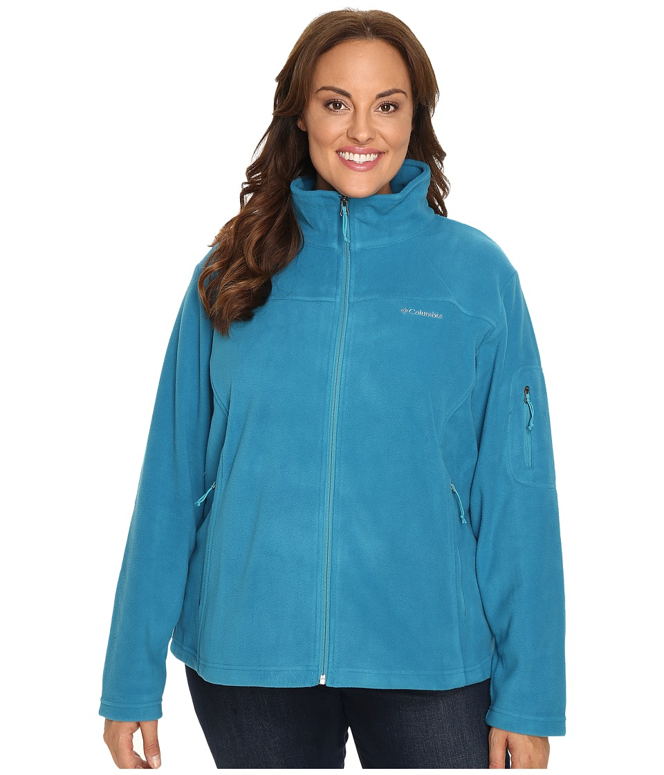 Columbia - Plus Size Fast Trek II Full Zip Fleece Jacket (Deep Marine) Women's Coat