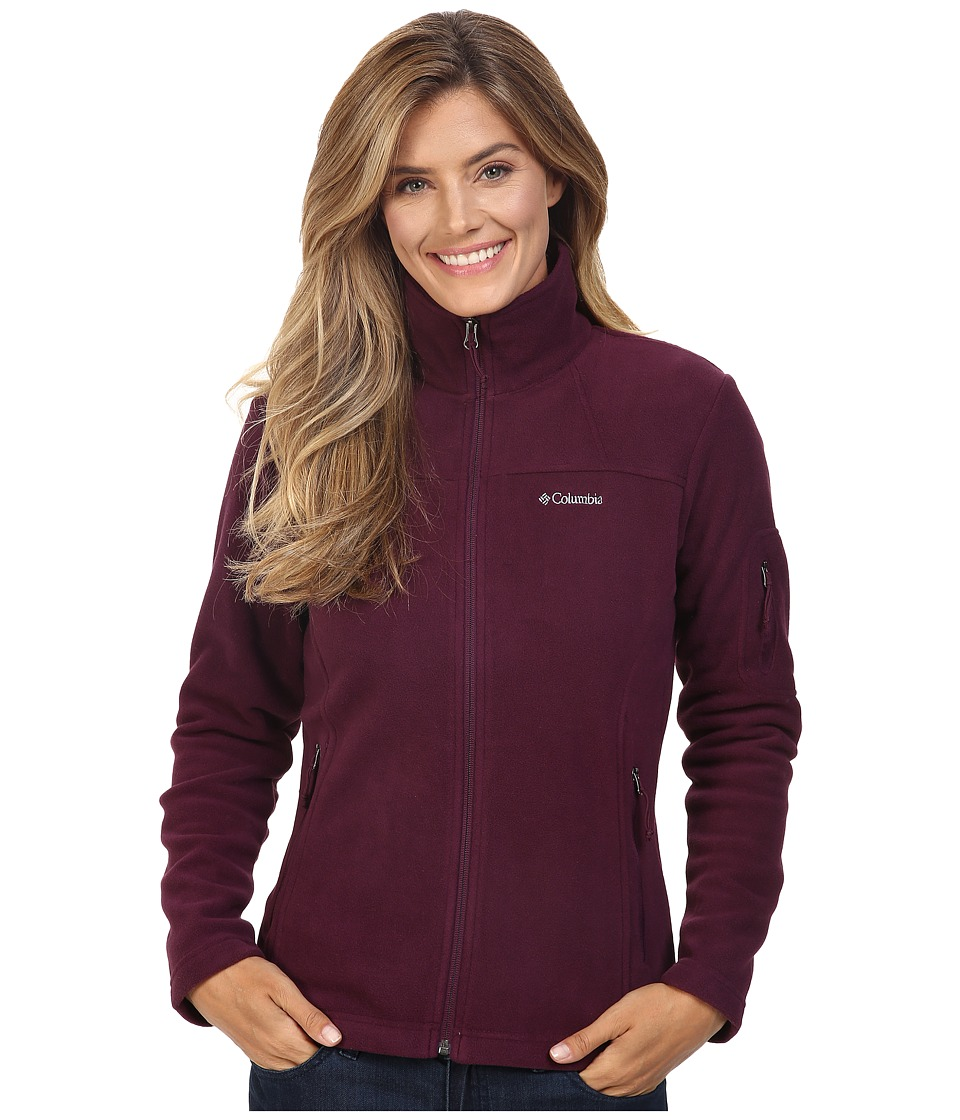 Columbia - Fast Trek II Full-Zip Fleece Jacket (Purple Dahlia) Women's Coat