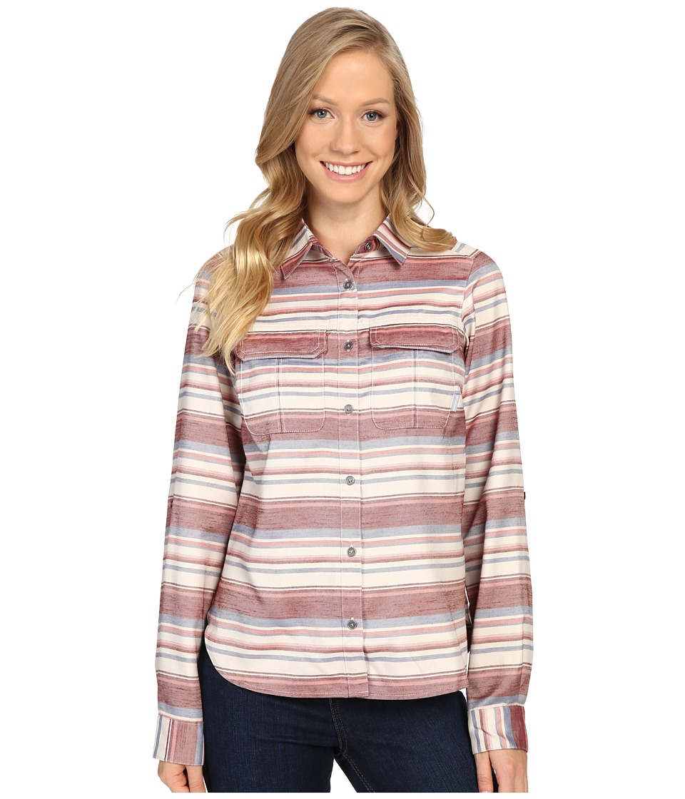 Columbia - Pilsner Lodge Stripe Long Sleeve Shirt (Marsala Red Stripe) Women's Long Sleeve Button Up