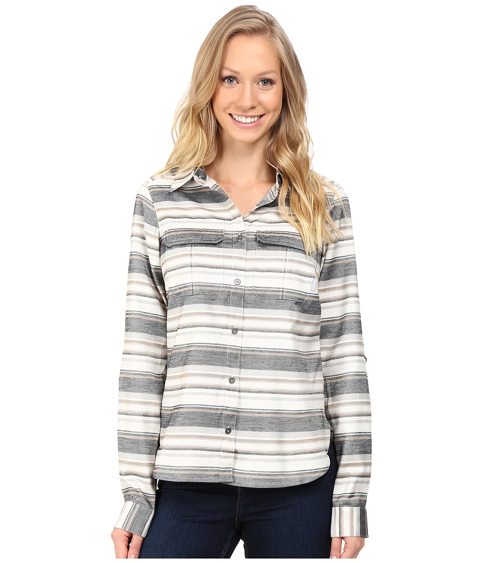 Columbia - Pilsner Lodge Stripe Long Sleeve Shirt (Black Stripe) Women's Long Sleeve Button Up