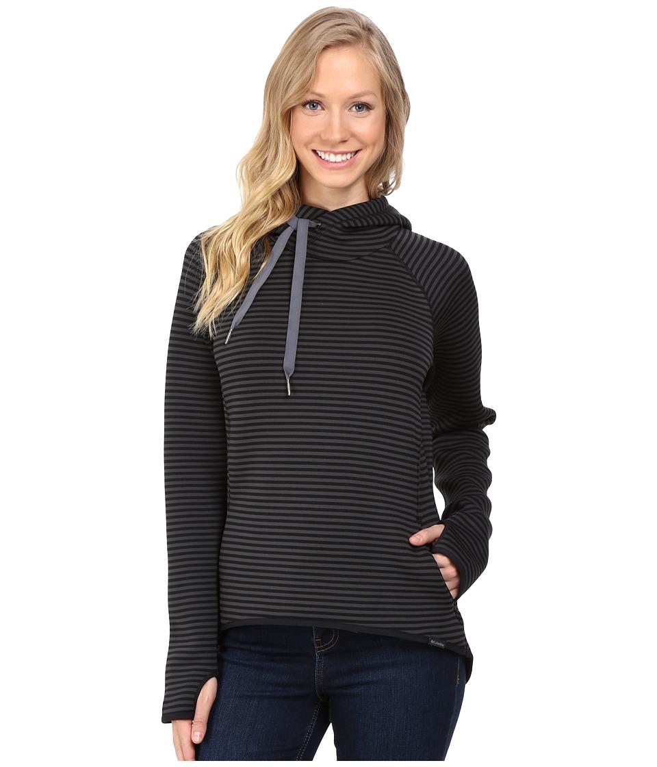 Columbia - Castella Peak Hoodie (Black Stripe/Graphite) Women's Sweatshirt