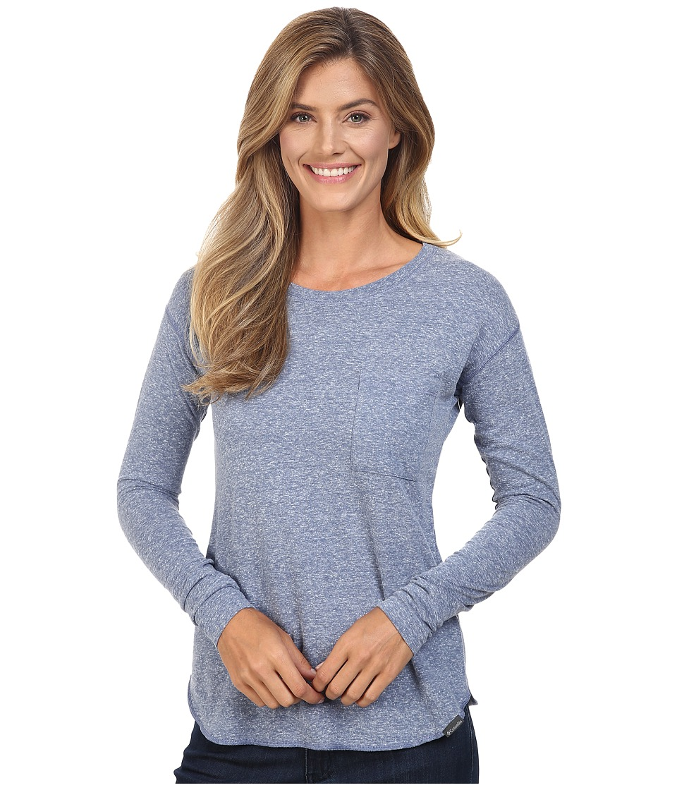 Columbia - Trail Shaker Long Sleeve Shirt (Bluebell Heather) Women's Clothing