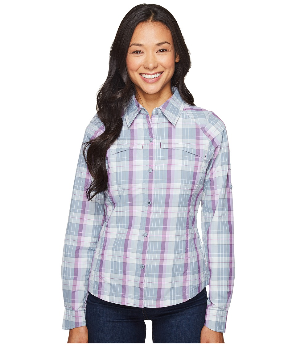Columbia - Silver Ridge Plaid L/S (Plum Mid Scale Dobby) Women's Long Sleeve Button Up