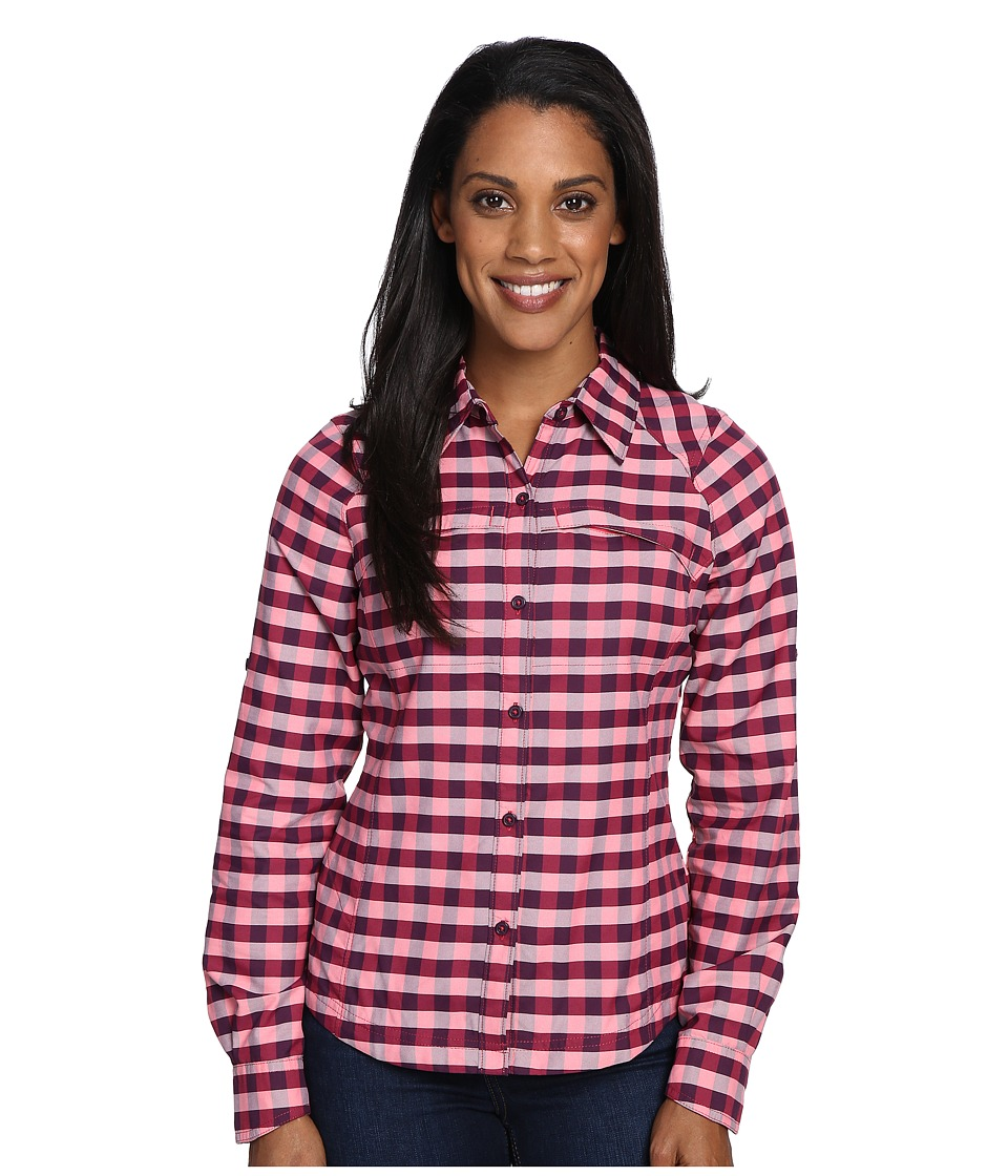 Columbia - Silver Ridge Plaid L/S (Punch Pink Twill) Women's Long Sleeve Button Up