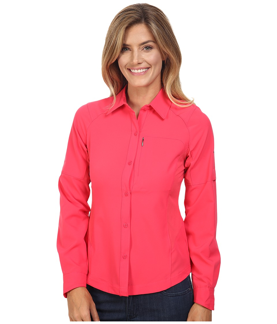 Columbia - Silver Ridge L/S Shirt (Punch Pink) Women's Long Sleeve Button Up