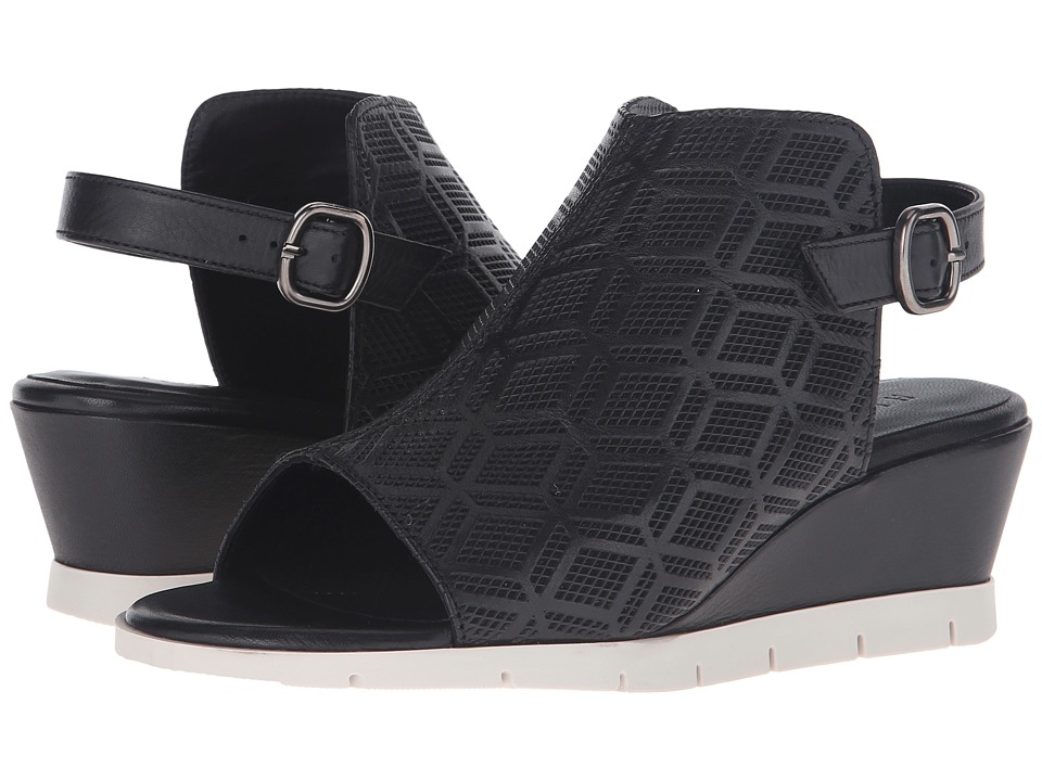 Hispanitas - Claire (Sauvage Black/Sauvage Black) Women's Wedge Shoes