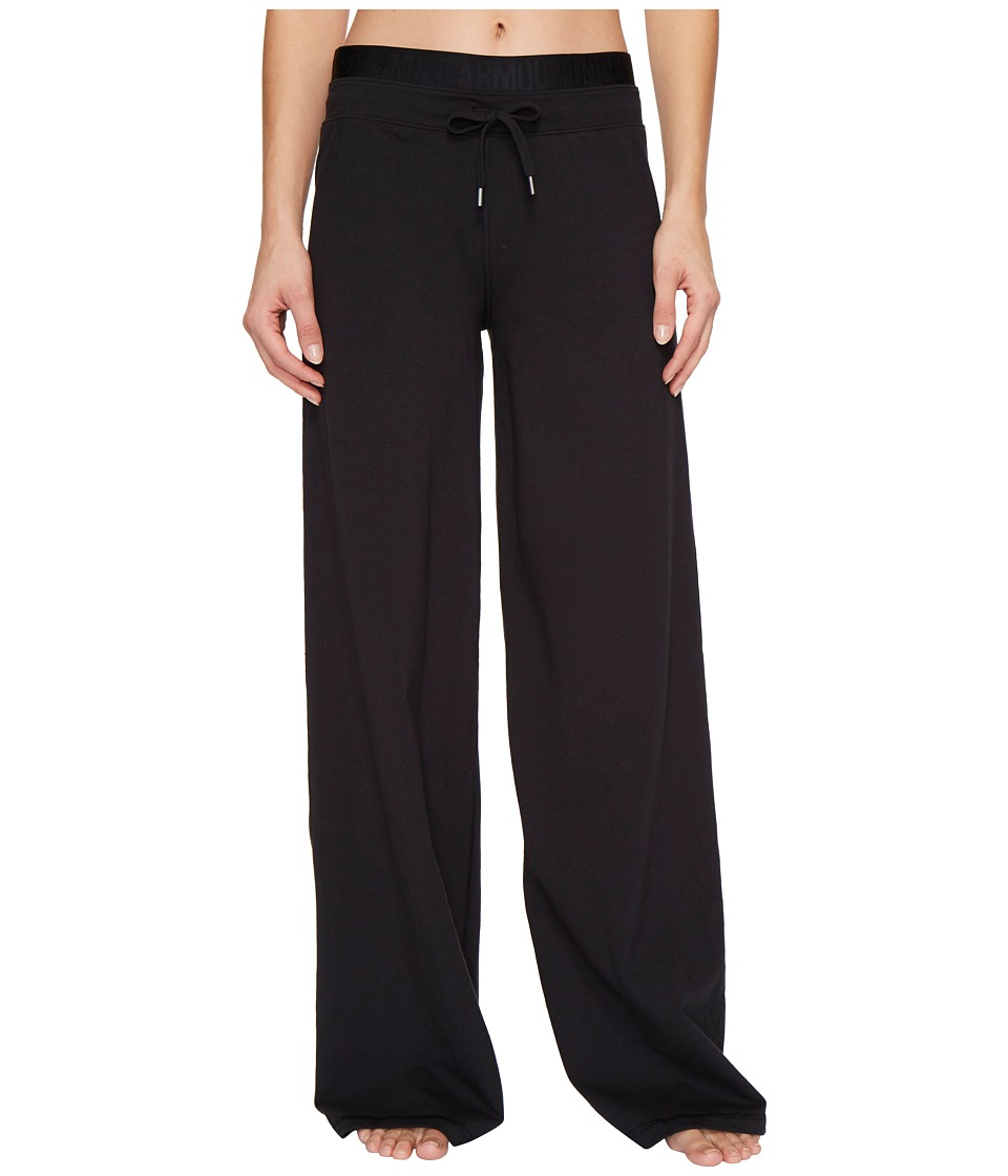 Under Armour - Favorite Wide Leg Pants (Black/Metallic Silver) Women's Casual Pants