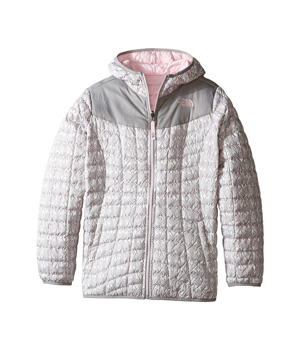 The North Face Kids - Reversible Thermoball Hoodie (Little Kids/Big Kids) (TNF White Lace Print) Girl's Sweatshirt