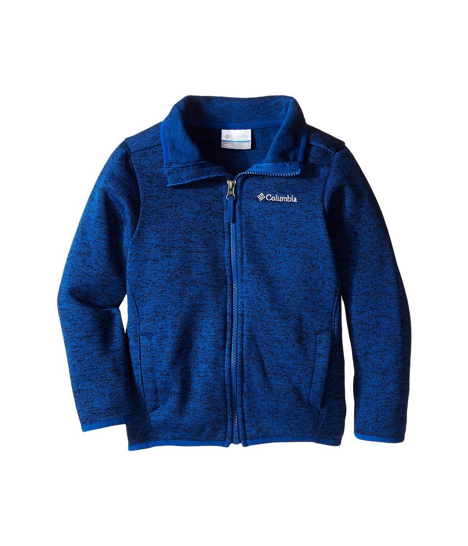 Columbia Kids - Birch Woods Full Zip (Little Kids/Big Kids) (Marine Blue Heather) Boy's Long Sleeve Pullover