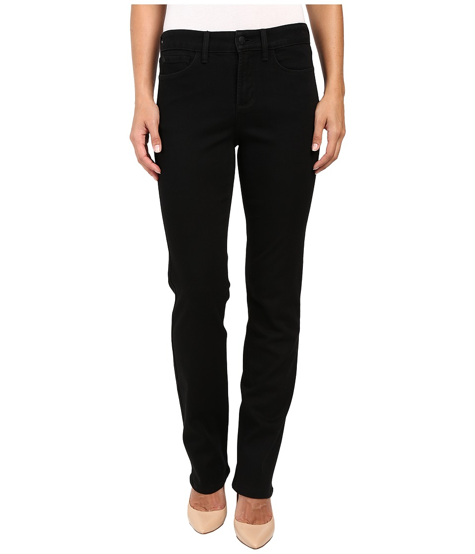 NYDJ - Marilyn Straight Jeans in Black (Black) Women's Jeans