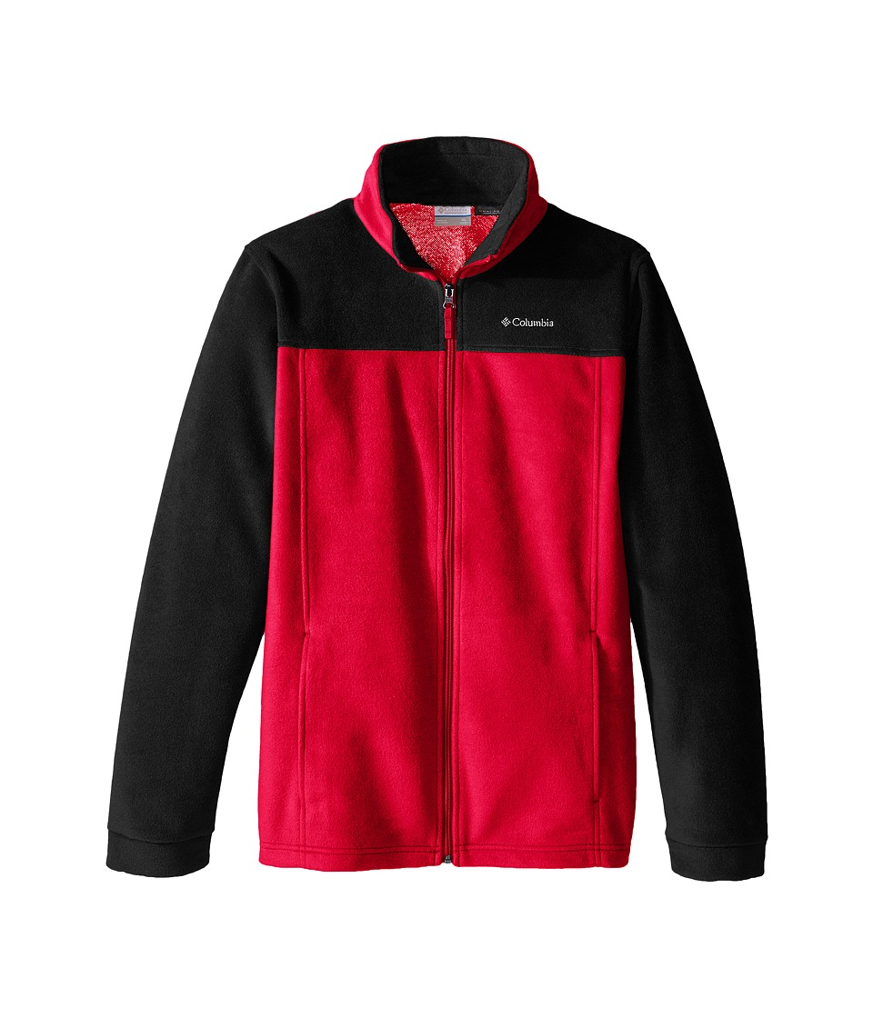 Columbia Kids - Dotswarm Full Zip (Little Kids/Big Kids) (Mountain Red/Black) Boy's Jacket