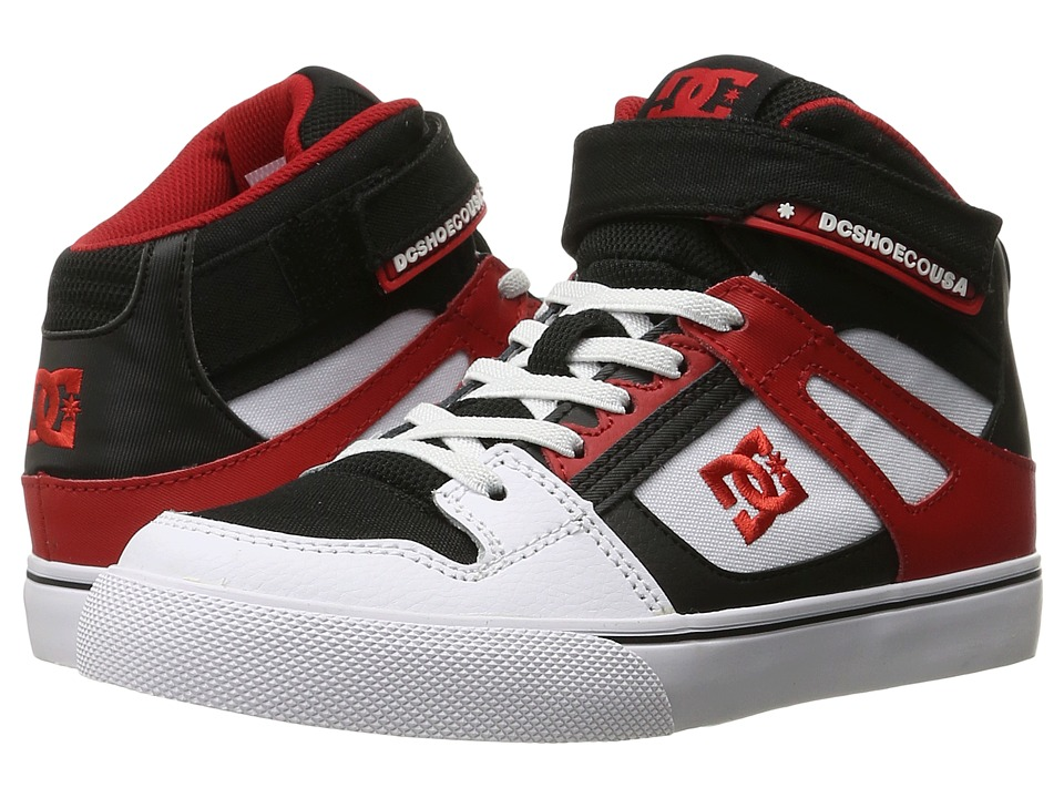 DC Kids - Spartan High EV (Big Kid) (White/Black/Red) Boys Shoes