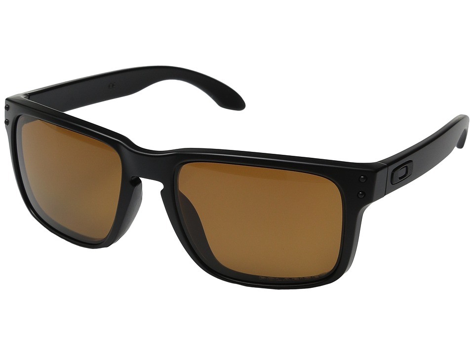Oakley - Holbrook Polarized (Matte Black/Bronze) Sport Sunglasses