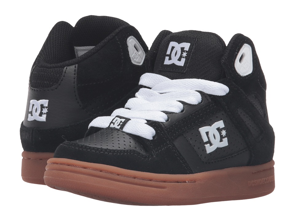 DC Kids - Rebound (Little Kid) (Black/Gum) Boys Shoes