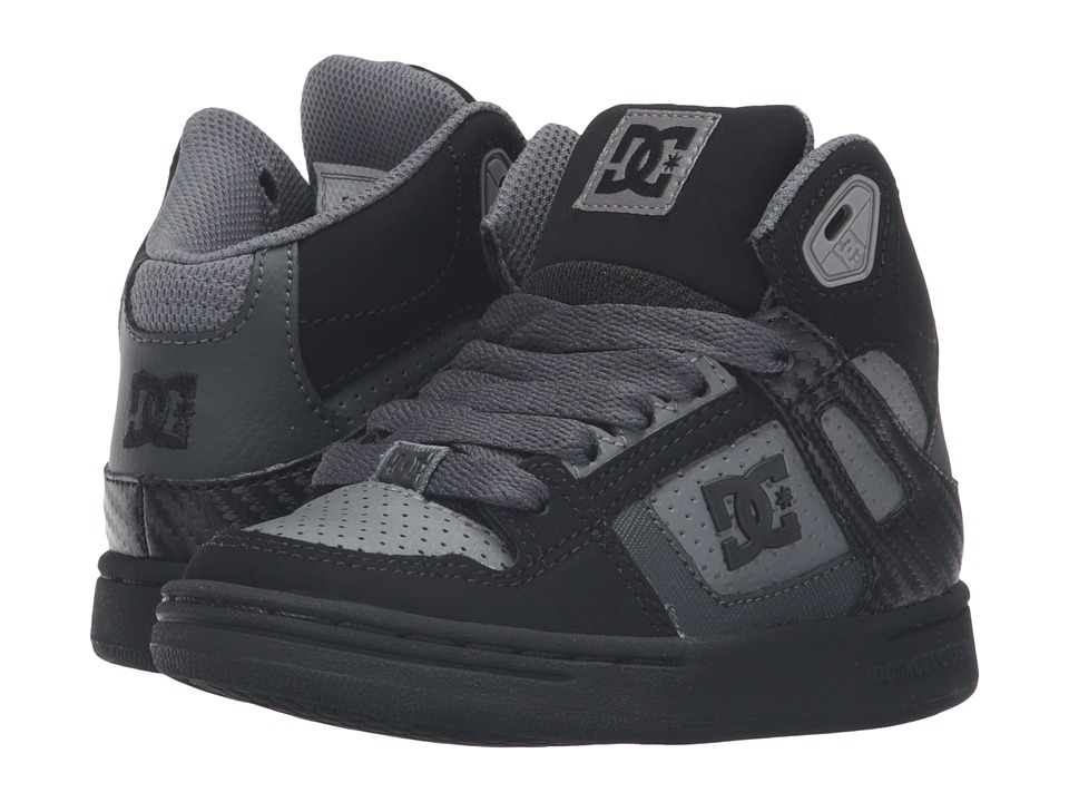 DC Kids - Rebound (Little Kid) (Grey/Black/Grey) Boys Shoes