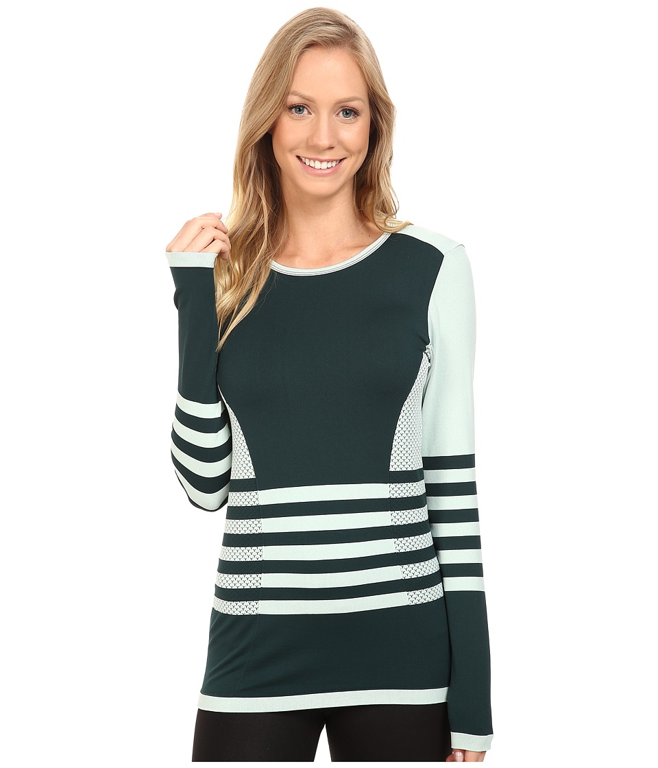 The North Face - Long Sleeve Secondskin Top (Subtle Green/Scarab Green) Women's Long Sleeve Pullover
