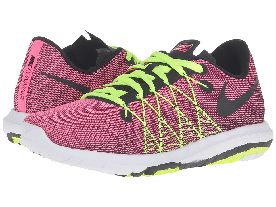 Nike Kids - Flex Fury 2 (Big Kid) (Hyper Pink/Volt/White/Black) Girls Shoes