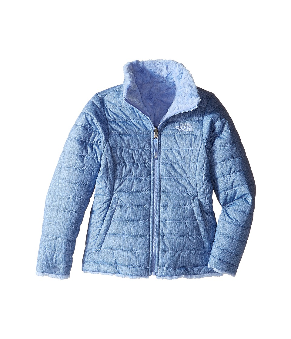 The North Face Kids - Reversible Mossbud Swirl Jacket (Little Kids/Big Kids) (Grapemist Blue Denim Print) Girl's Coat