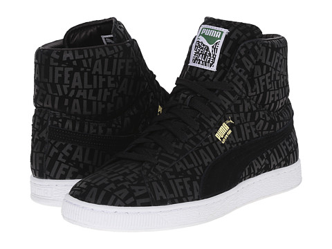 PUMA - Suede Mid X Stuck Up X Alife (Black) Men's Shoes