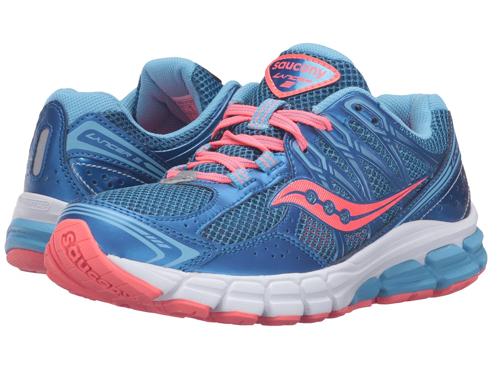 Saucony - Lancer 2 (Blue/Coral) Women's Running Shoes