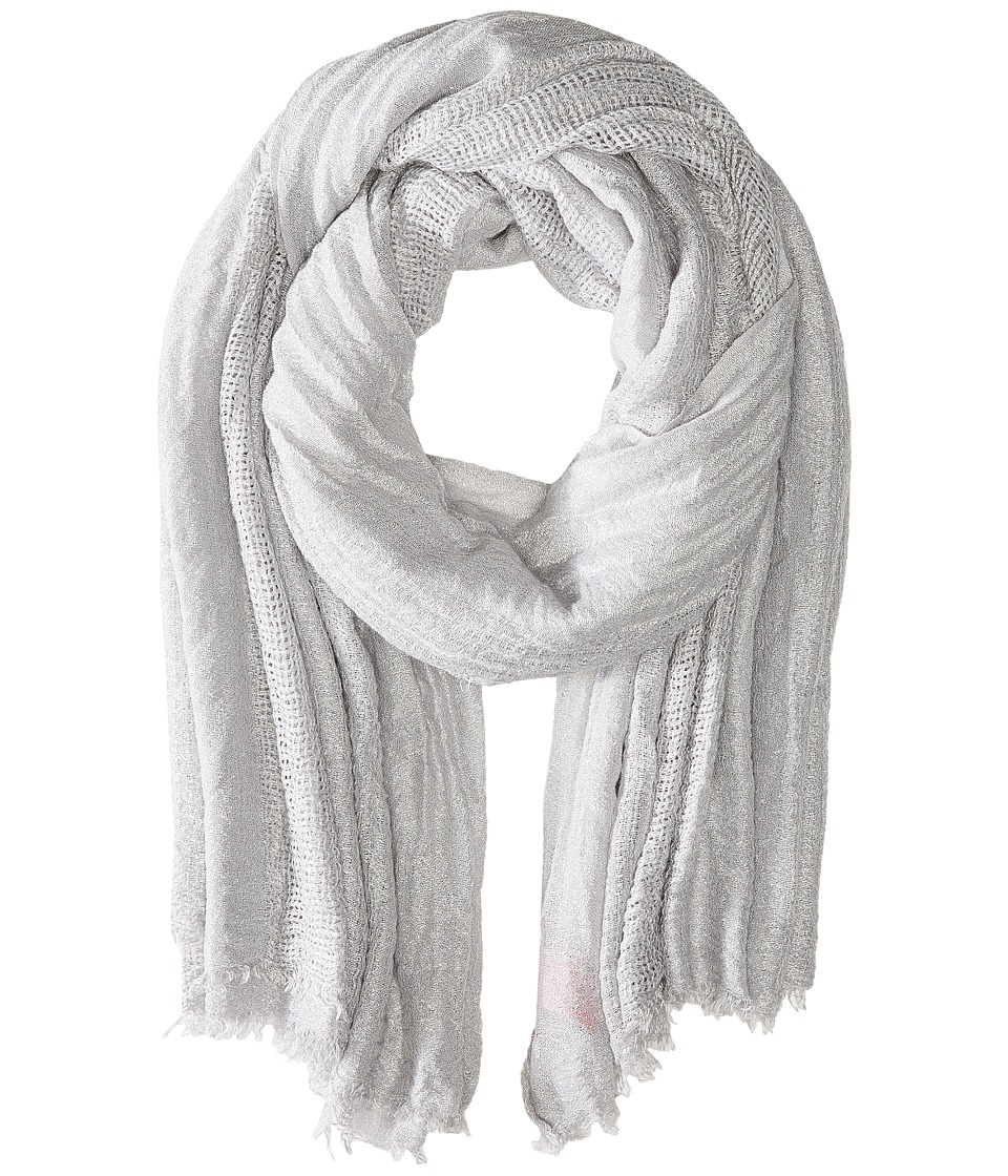 Betsey Johnson - Delicate Shimmer Day Wrap (Silver) Scarves