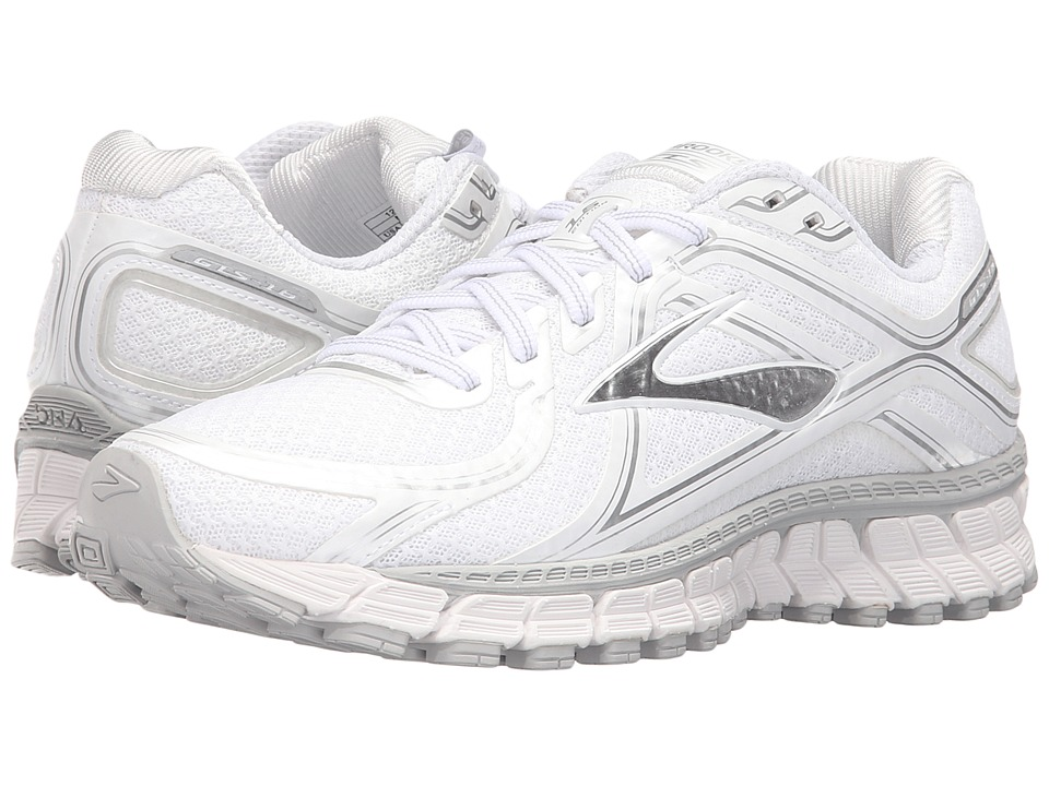 Brooks - Adrenaline GTS 16 (White/Silver) Women's Running Shoes