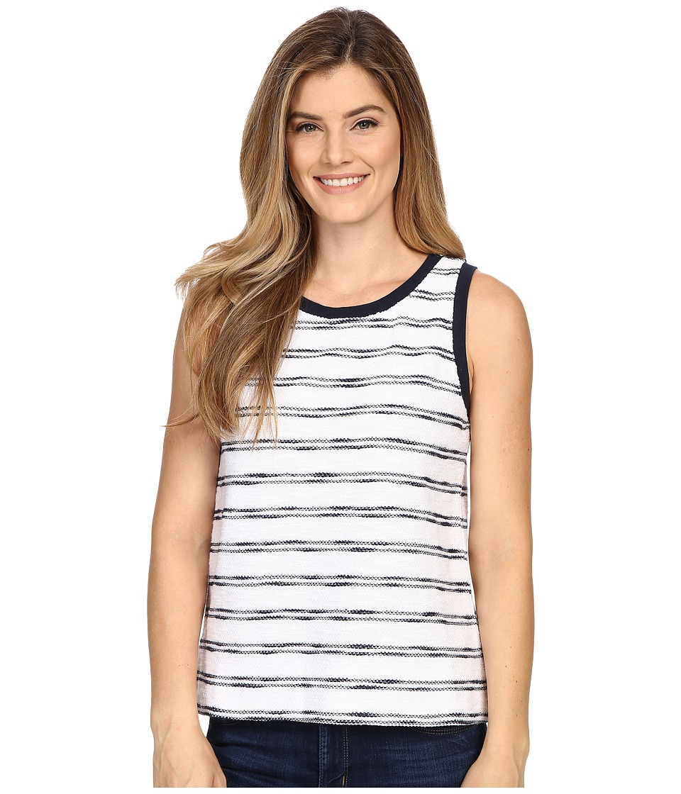 Lilla P - Striped Terry Shell (Navy/White Terry) Women's Clothing