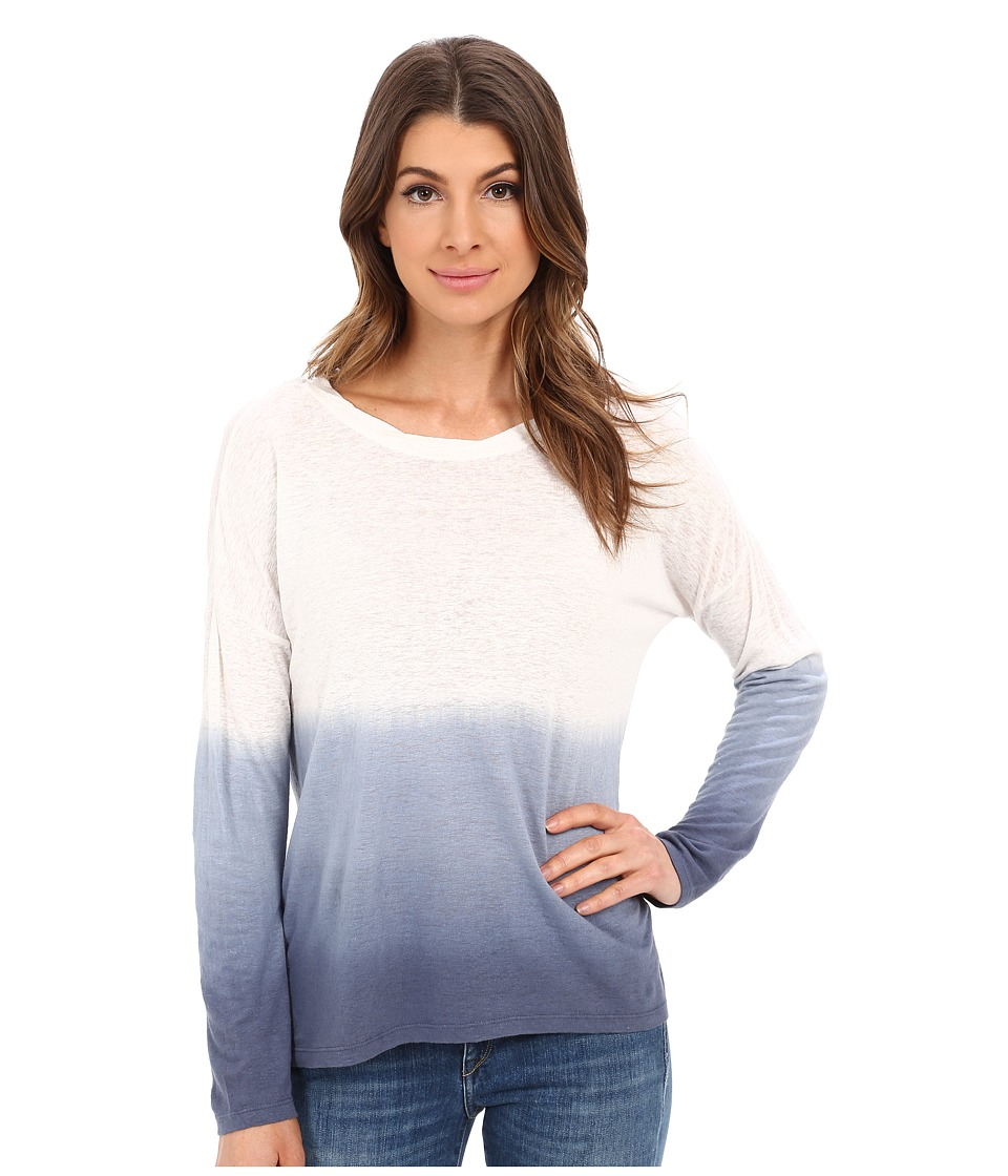 Lilla P - Dip Dye Long Sleeve Boat Neck (Storm Dip Dye) Women's Clothing