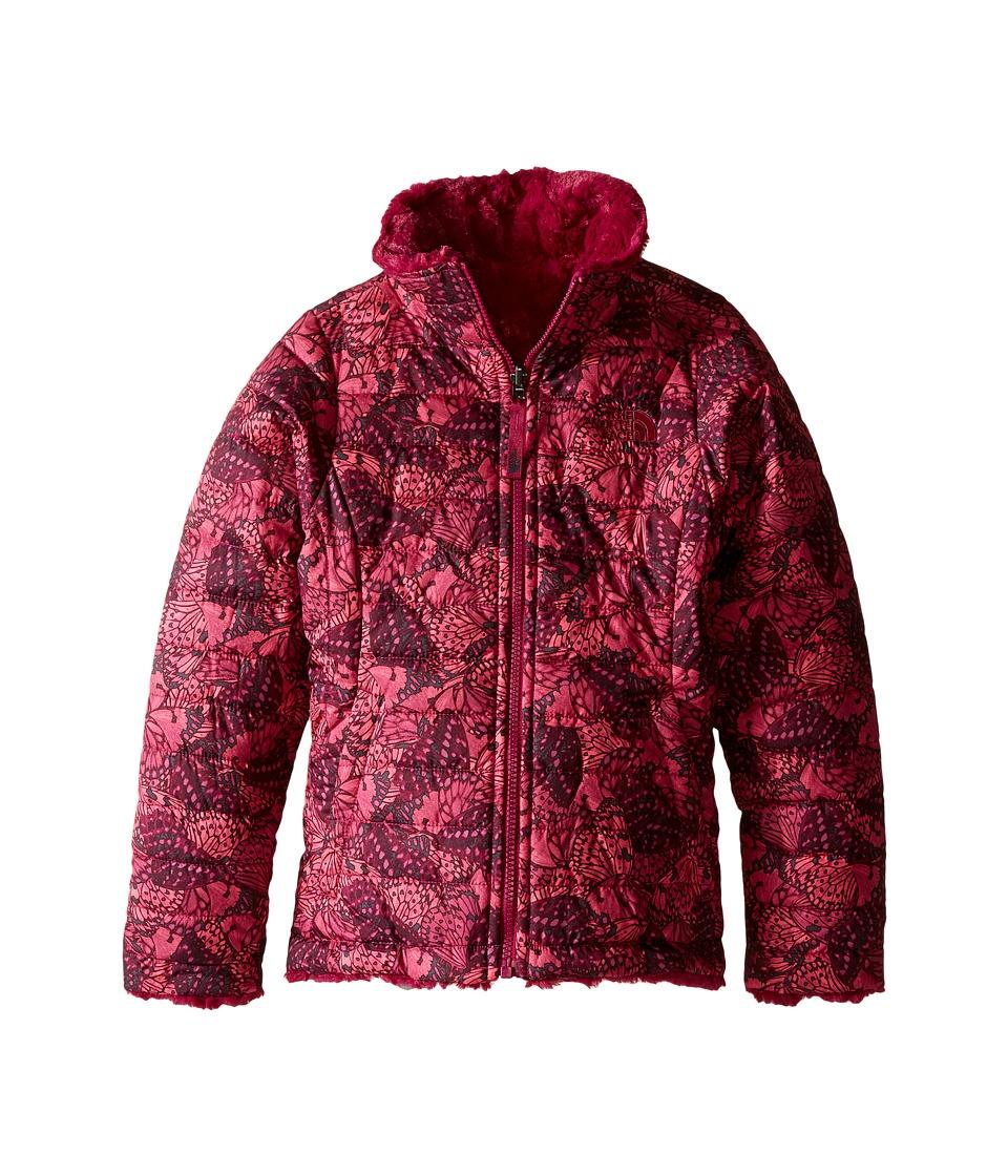 The North Face Kids - Reversible Mossbud Swirl Jacket (Little Kids/Big Kids) (Roxbury Pink Butterfly Camo) Girl's Coat