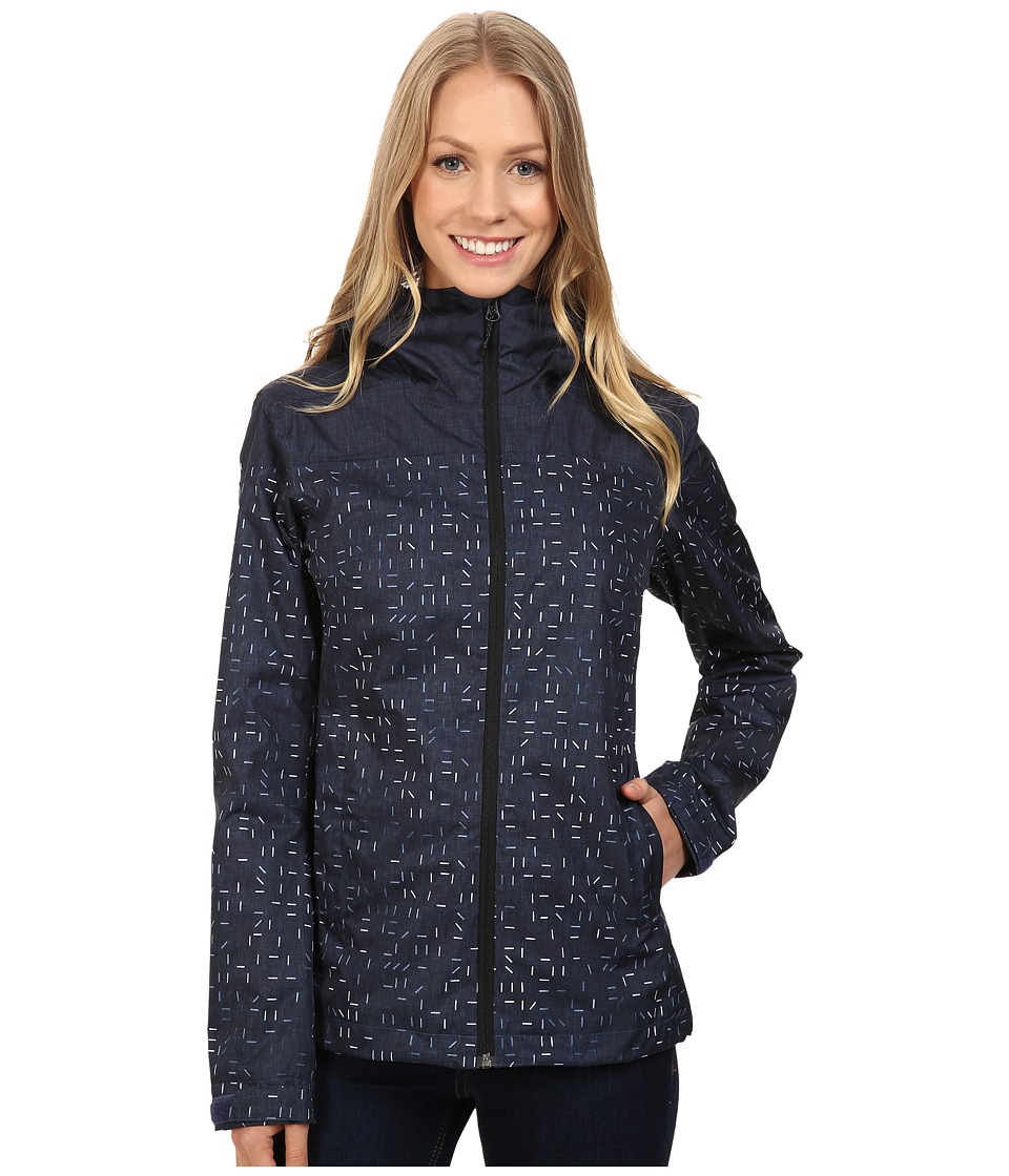 adidas Outdoor - Wandertag Jacket Print (Mineral Blue) Women's Coat