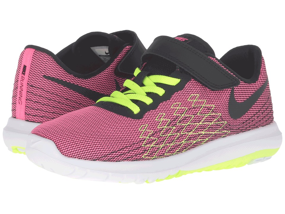 Nike Kids - Flex Fury 2 (Little Kid) (Hyper Pink/Volt/White/Black) Girls Shoes