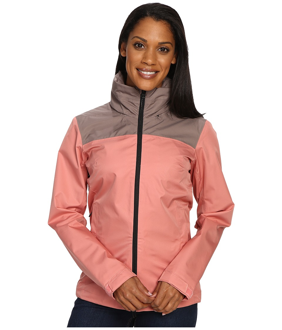 adidas Outdoor - Wandertag Jacket (Tech Earth/Ray Pink) Women's Coat