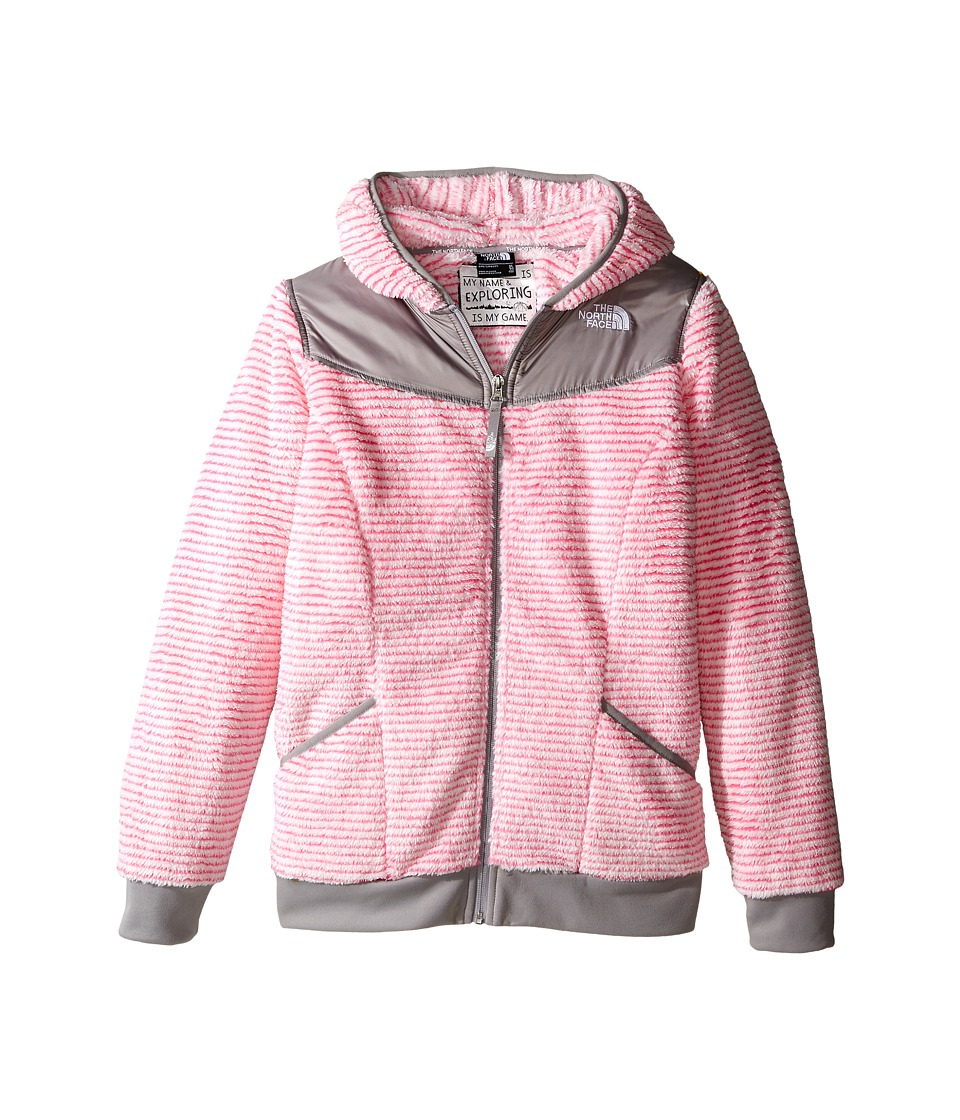 The North Face Kids - Oso Hoodie (Little Kids/Big Kids) (Cha Cha Pink Stripe) Girl's Sweatshirt