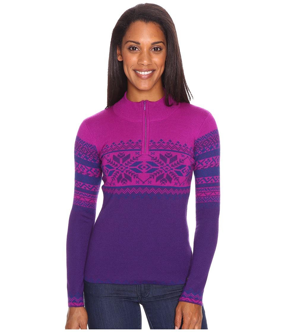 Obermeyer Carla Knit 1/2 Zip (Azalea Purple) Women